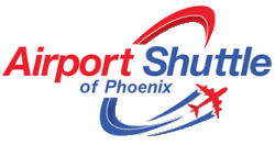 Phoenix Airport Shuttle Logo in Arizona