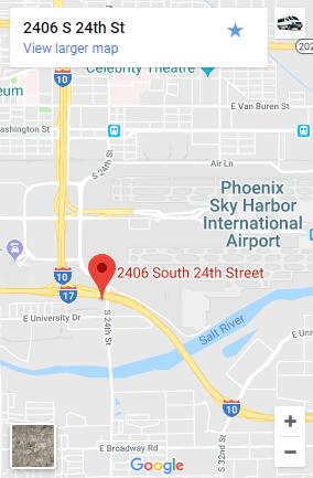 Airport Shuttle of Phoenix PHX Map