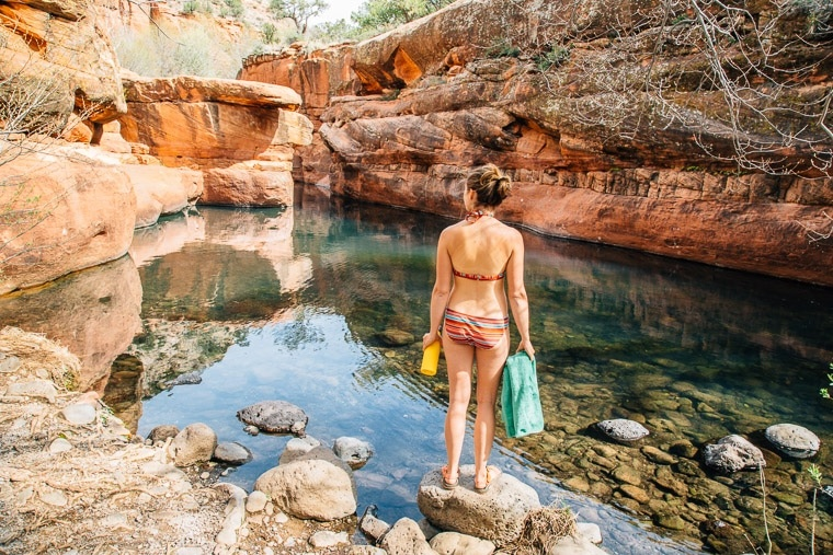 Sedona-Swimming-Holes-The-Crack-Wet-Beaver-Creek-Bell-Crossing-Swimming-Hole