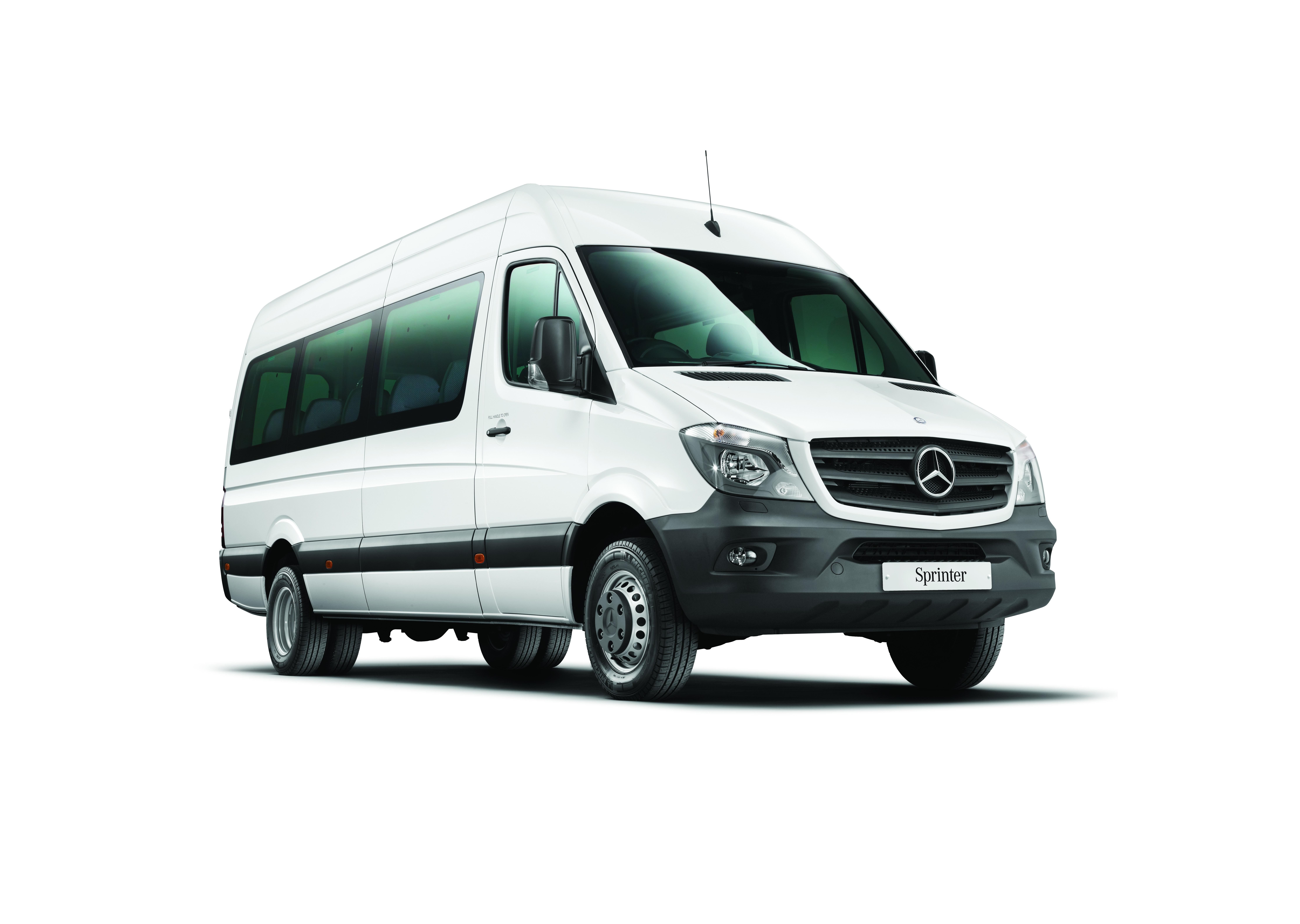 White Mercedes Sprinter