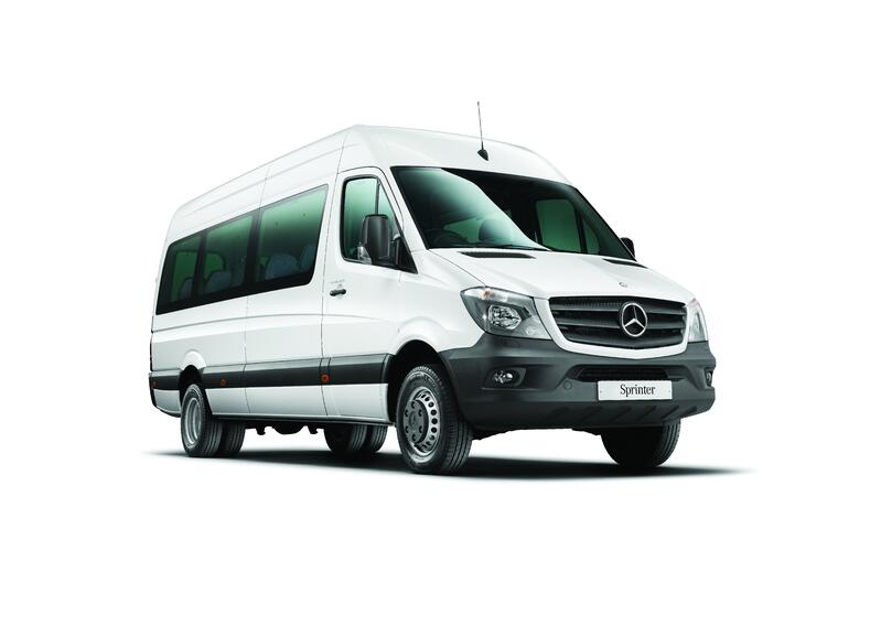 White Mercedes Sprinter
