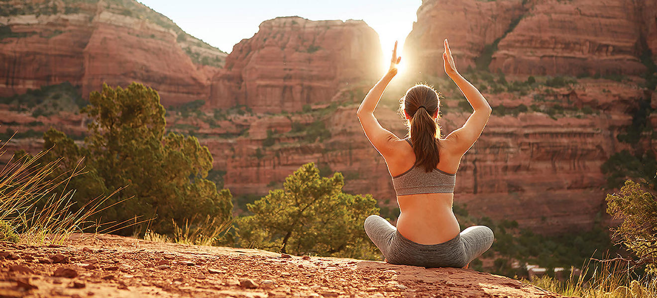 yoga pose sedona